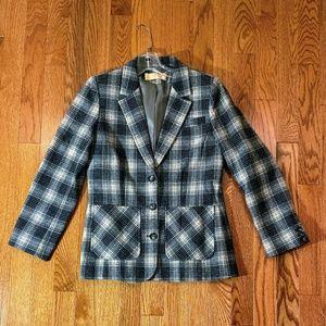 Olive Green & Gray Wool Pendleton Blazer Size 6